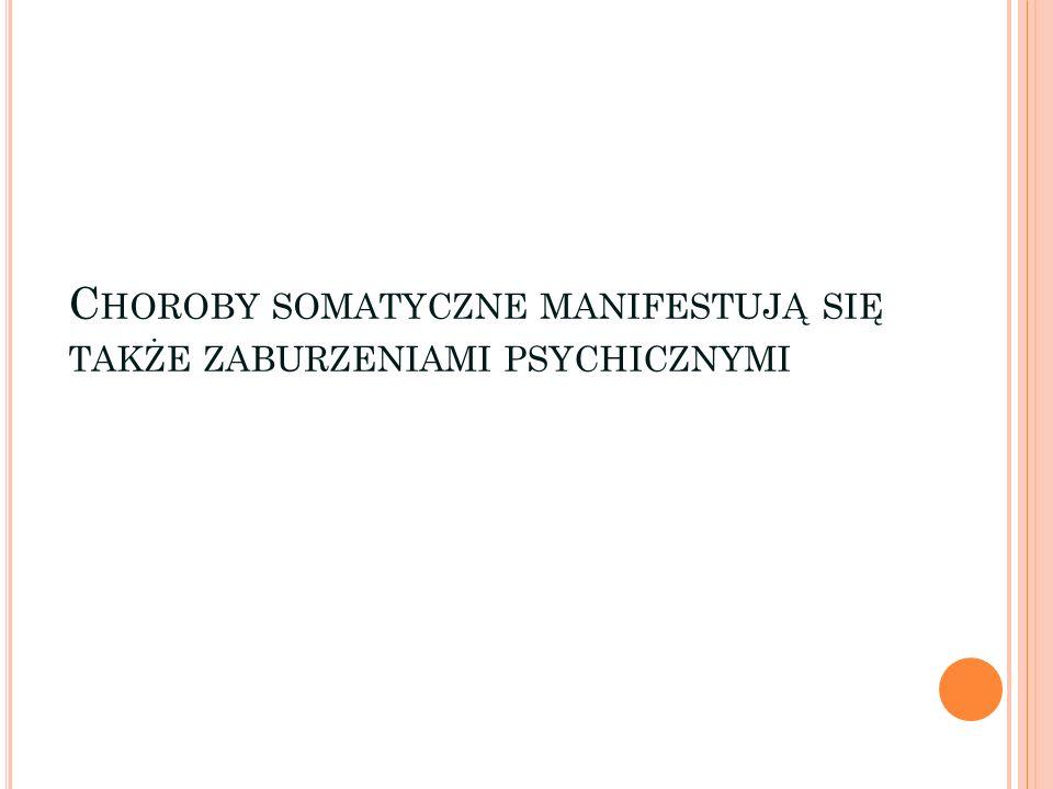 Choroby somatyczne manifestują się także zaburzeniami psychicznymi