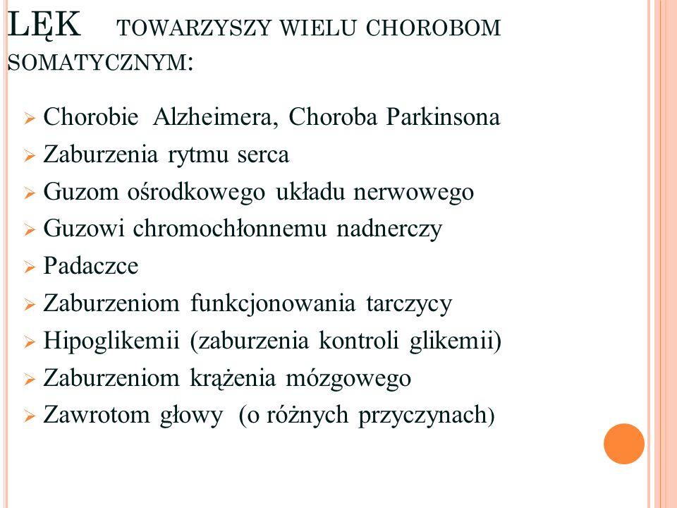 LĘK towarzyszy wielu chorobom somatycznym: