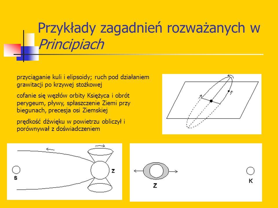 Przykłady zagadnień rozważanych w Principiach