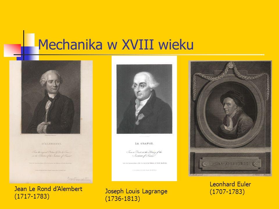 Mechanika w XVIII wieku
