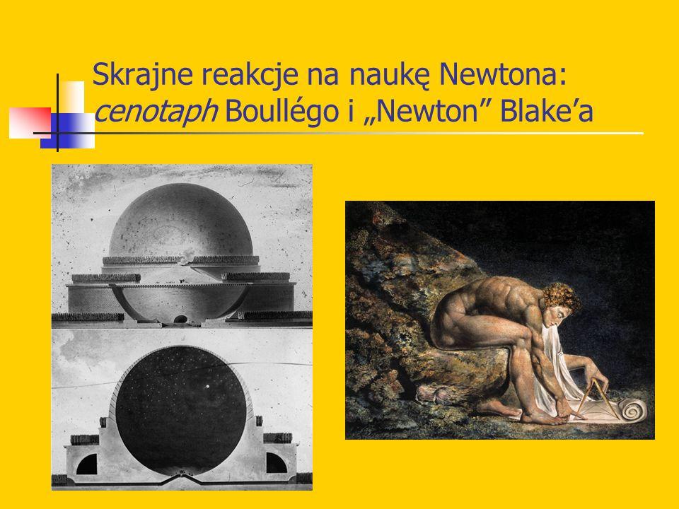 "Skrajne reakcje na naukę Newtona: cenotaph Boullégo i ""Newton Blake'a"