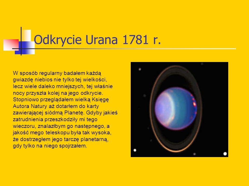 Odkrycie Urana 1781 r.