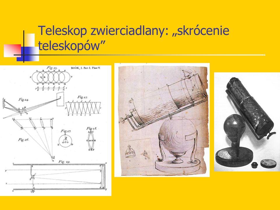 """Teleskop zwierciadlany: """"skrócenie teleskopów"""