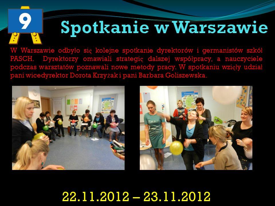 Spotkanie w Warszawie 22.11.2012 – 23.11.2012