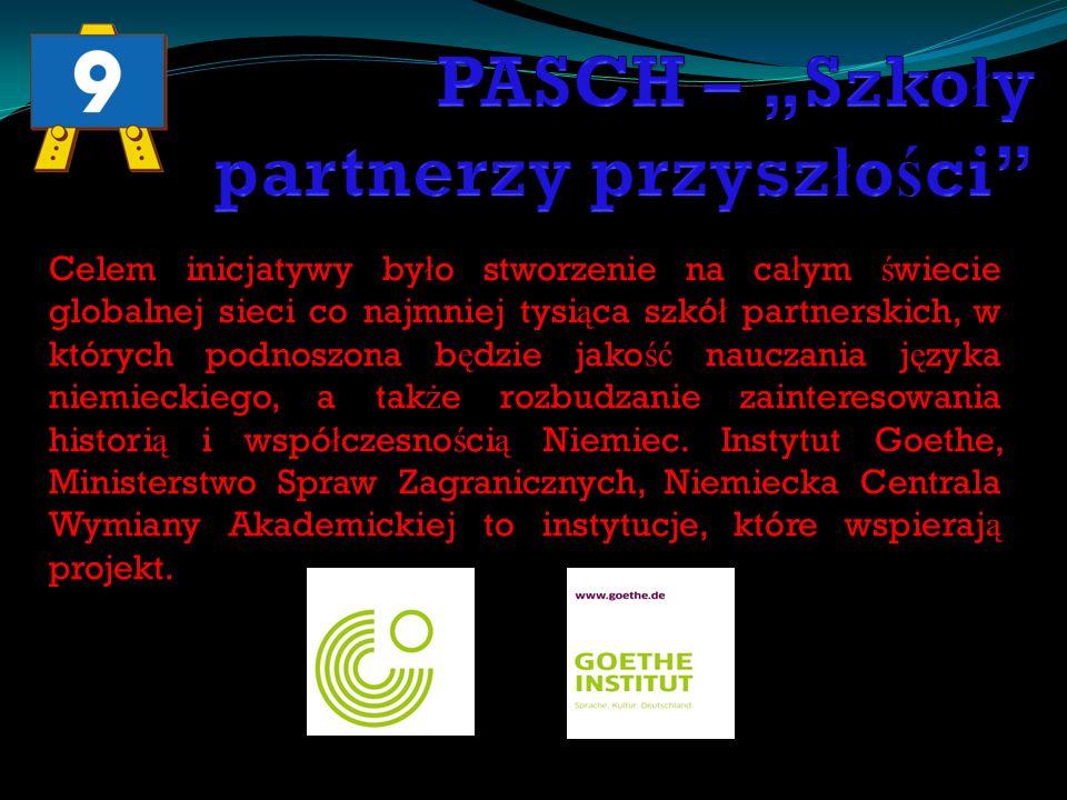"""PASCH – """"Szkoły partnerzy przyszłości"""