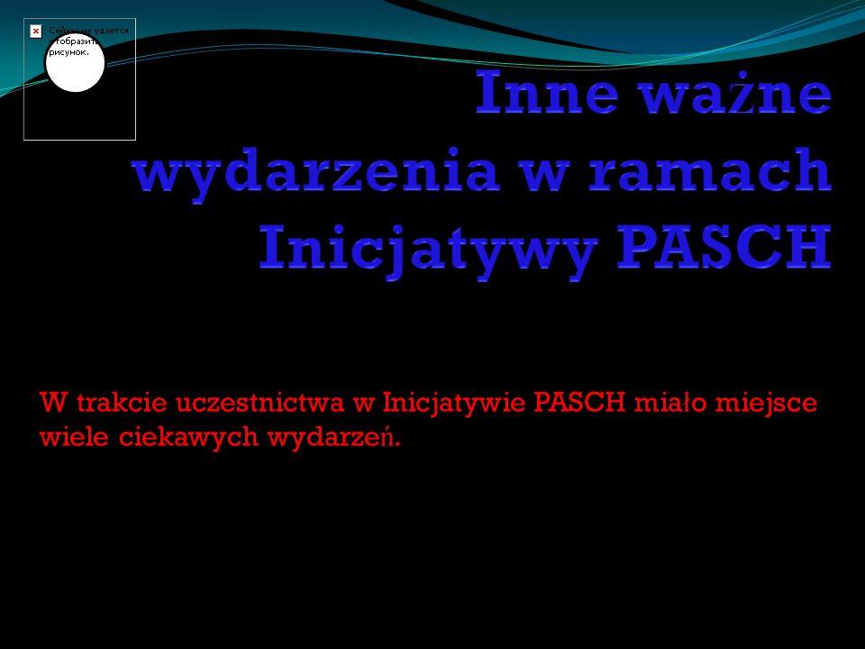 Inne ważne wydarzenia w ramach Inicjatywy PASCH
