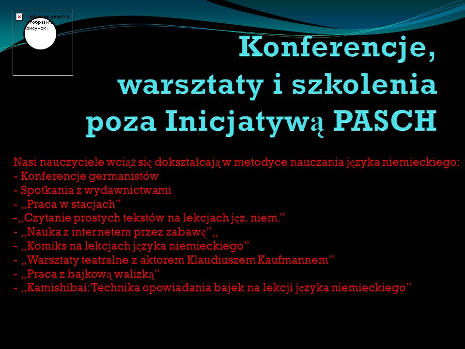 Konferencje, warsztaty i szkolenia poza Inicjatywą PASCH