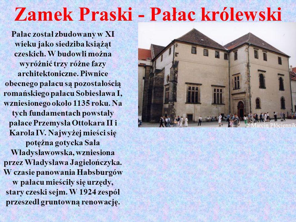 Zamek Praski - Pałac królewski