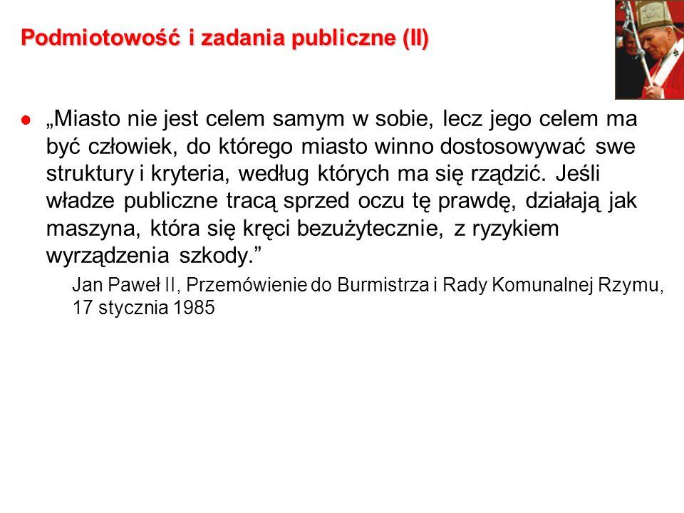 Podmiotowość i zadania publiczne (II)