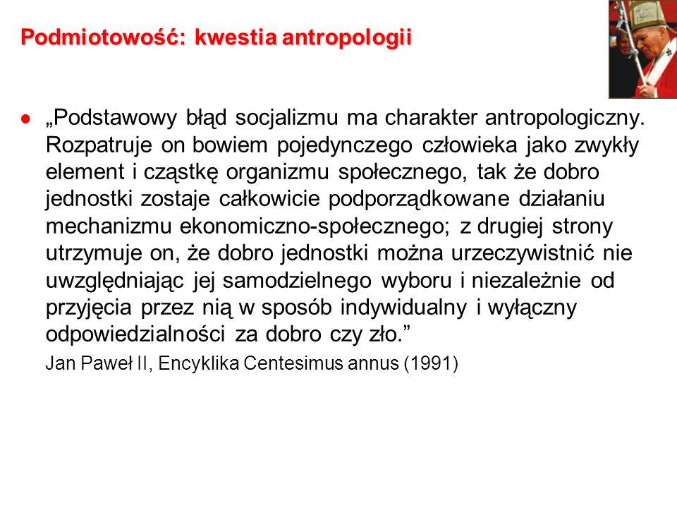 Podmiotowość: kwestia antropologii
