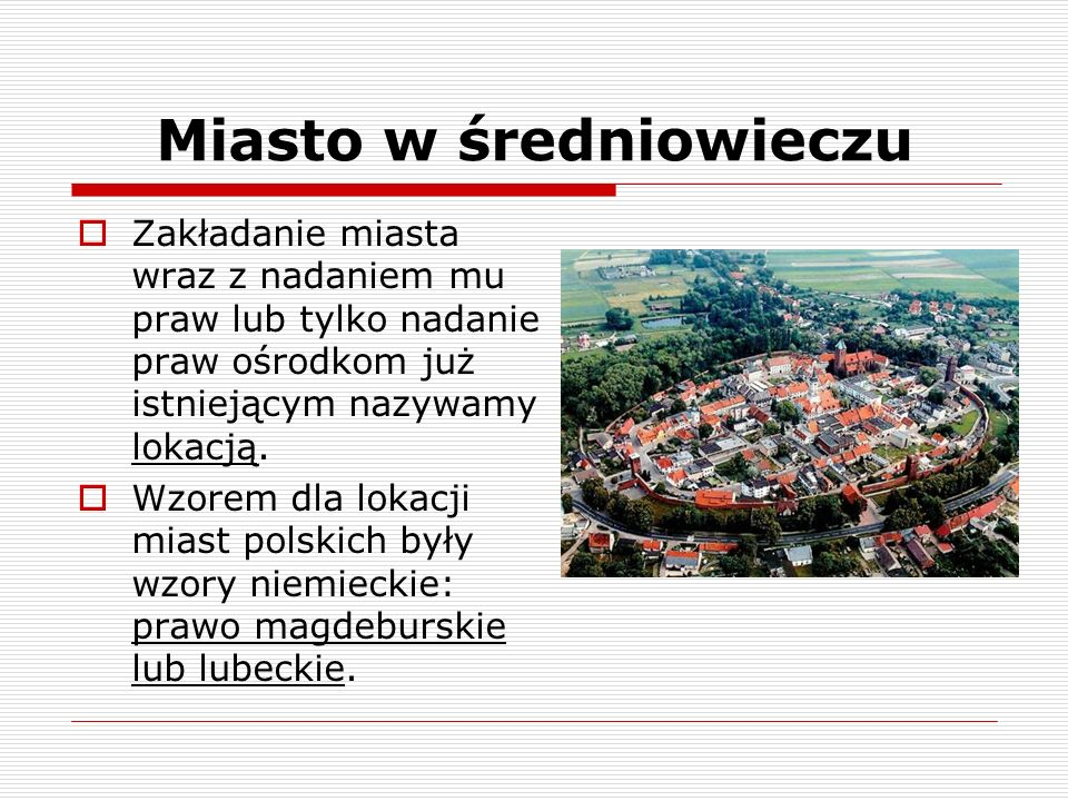 Miasto w średniowieczu