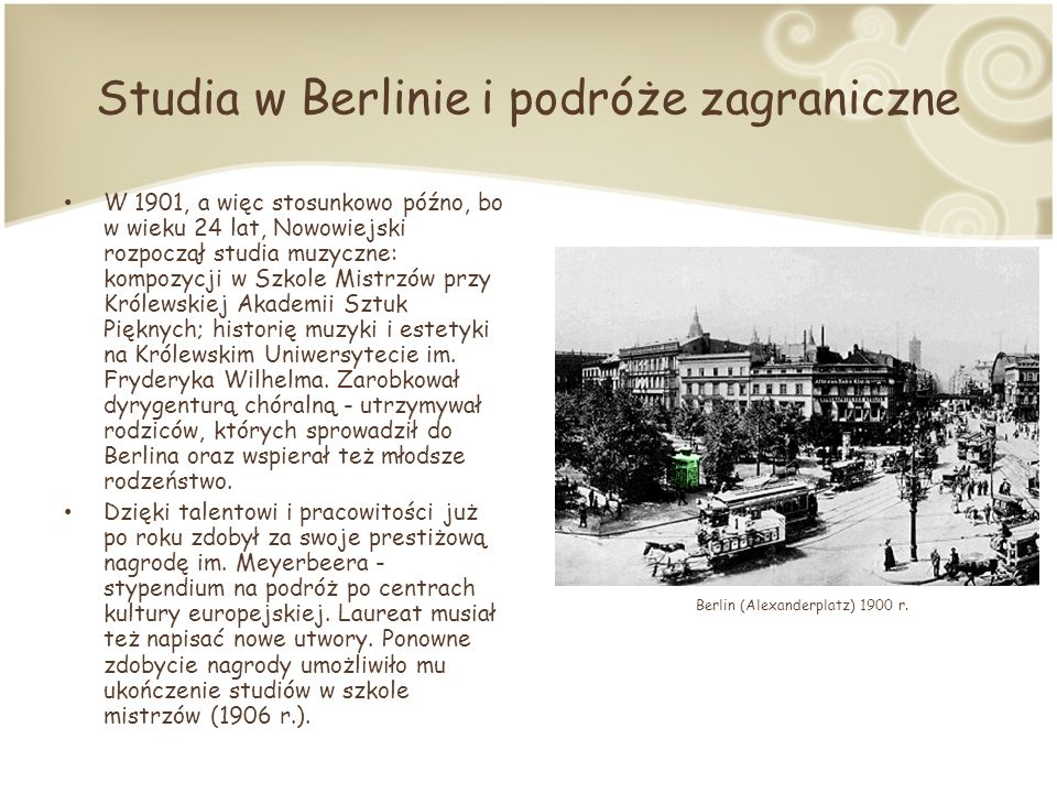 Studia w Berlinie i podróże zagraniczne