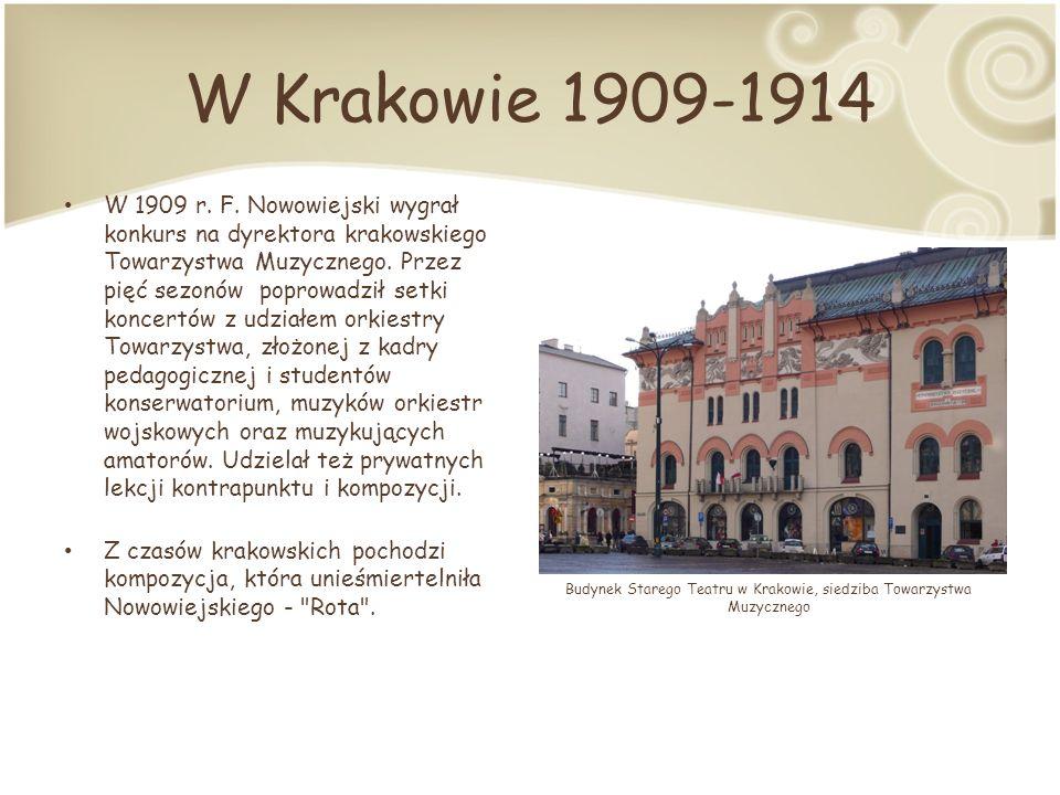 Budynek Starego Teatru w Krakowie, siedziba Towarzystwa Muzycznego