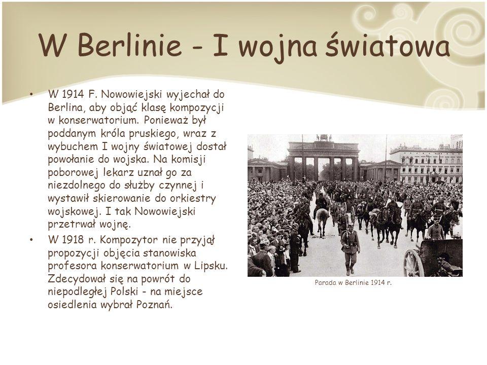 W Berlinie - I wojna światowa