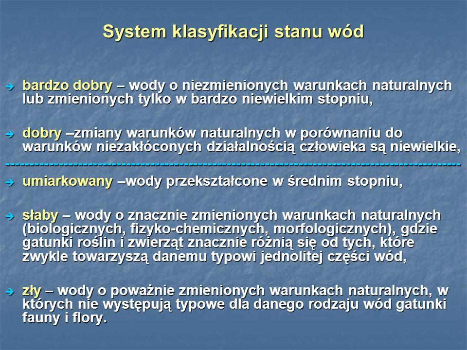 System klasyfikacji stanu wód