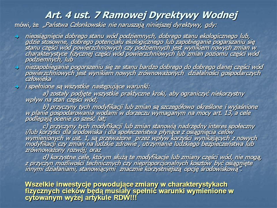 Art. 4 ust. 7 Ramowej Dyrektywy Wodnej