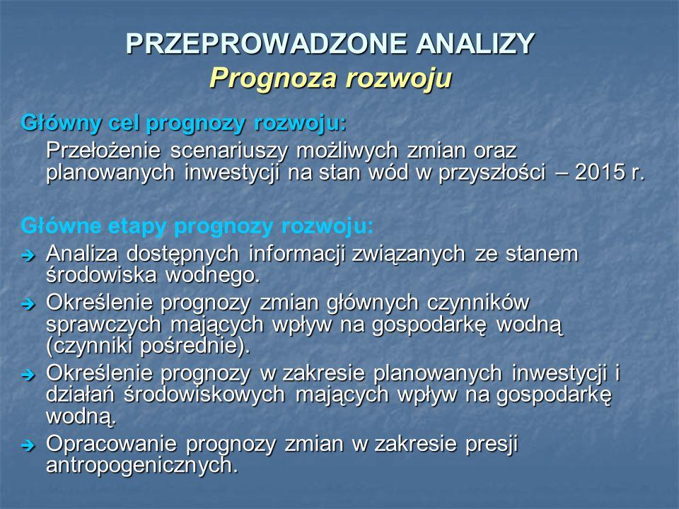 PRZEPROWADZONE ANALIZY Prognoza rozwoju