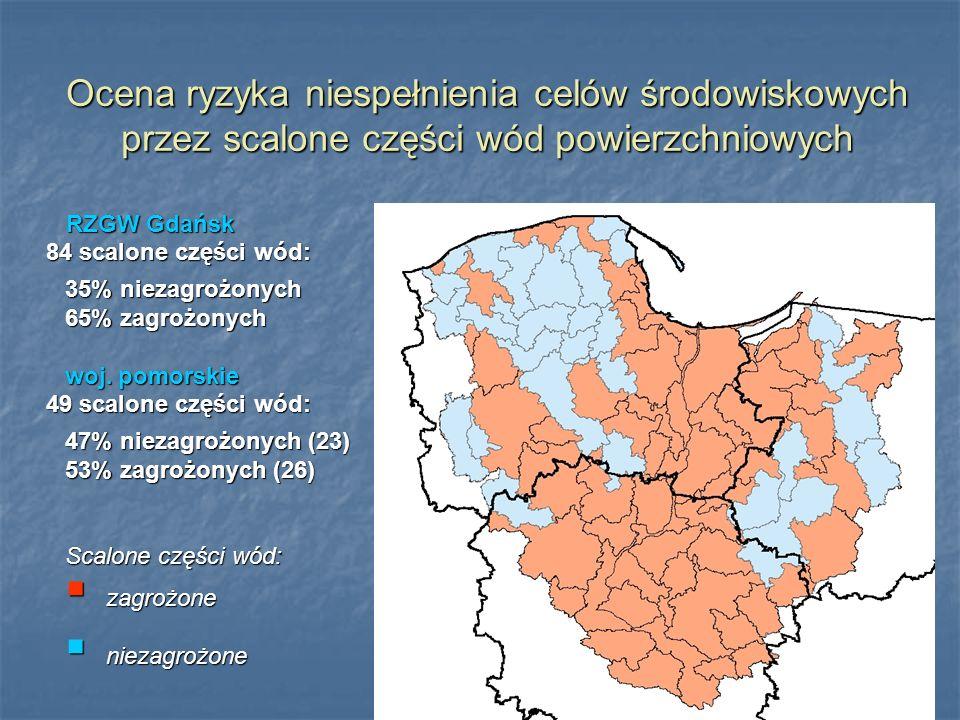 Ocena ryzyka niespełnienia celów środowiskowych przez scalone części wód powierzchniowych