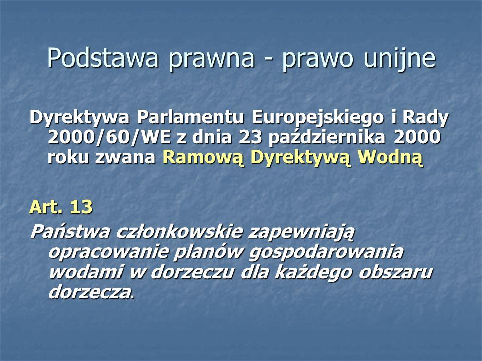 Podstawa prawna - prawo unijne