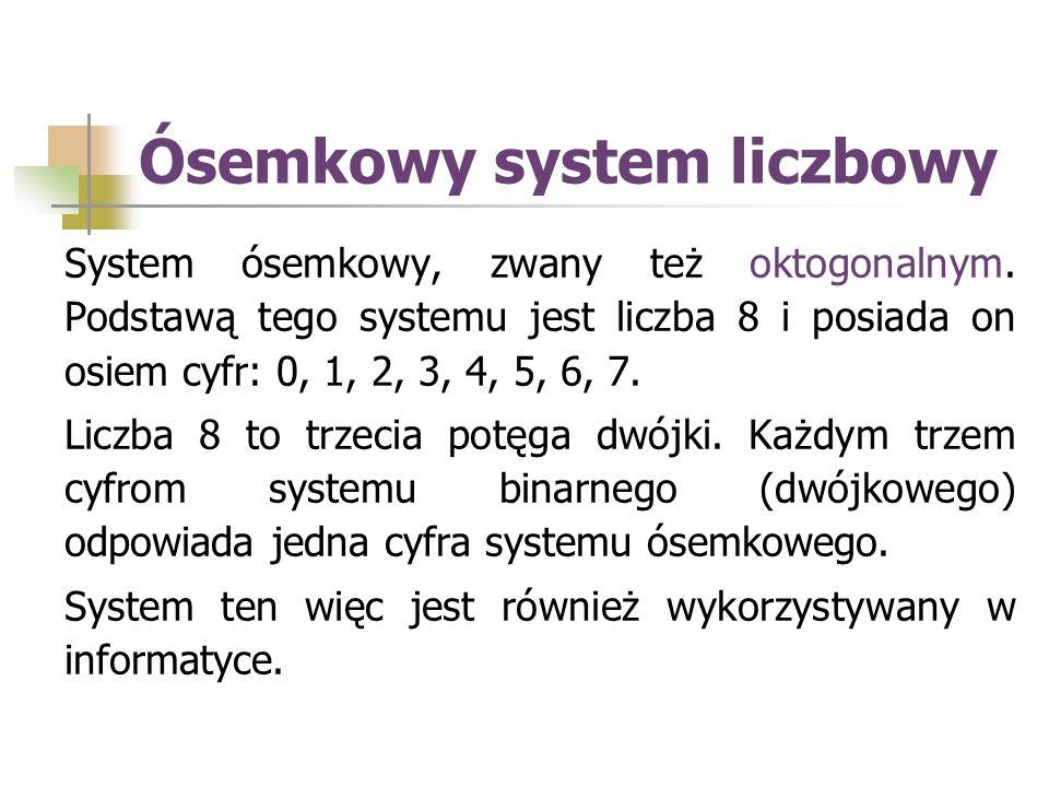 Ósemkowy system liczbowy