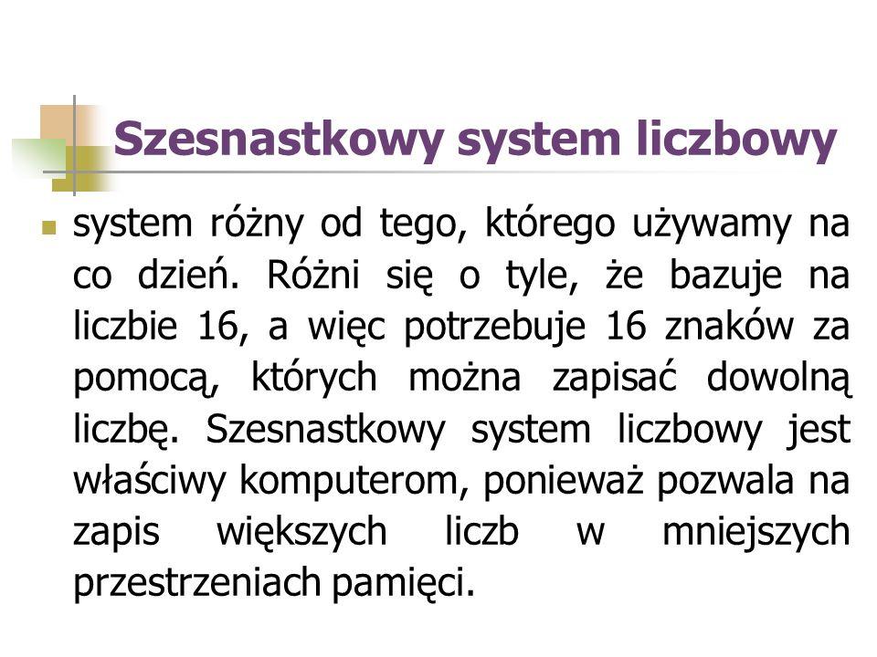 Szesnastkowy system liczbowy