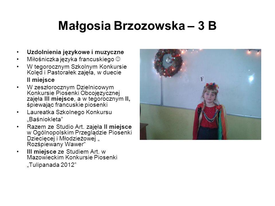 Małgosia Brzozowska – 3 B