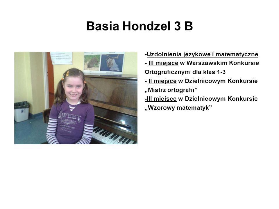 Basia Hondzel 3 B -Uzdolnienia językowe i matematyczne