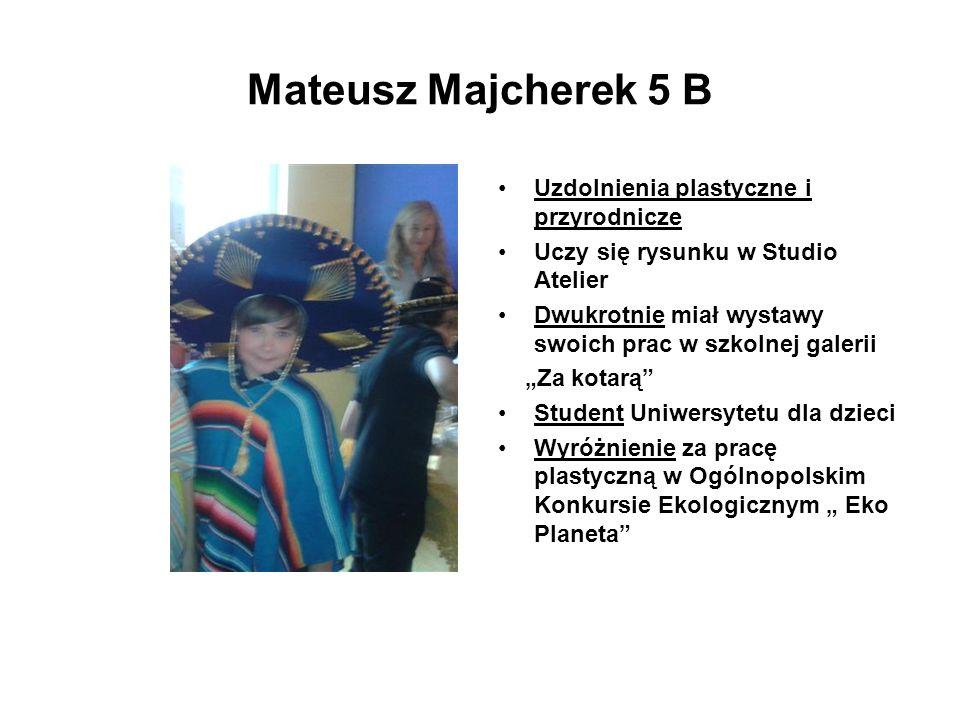 Mateusz Majcherek 5 B Uzdolnienia plastyczne i przyrodnicze