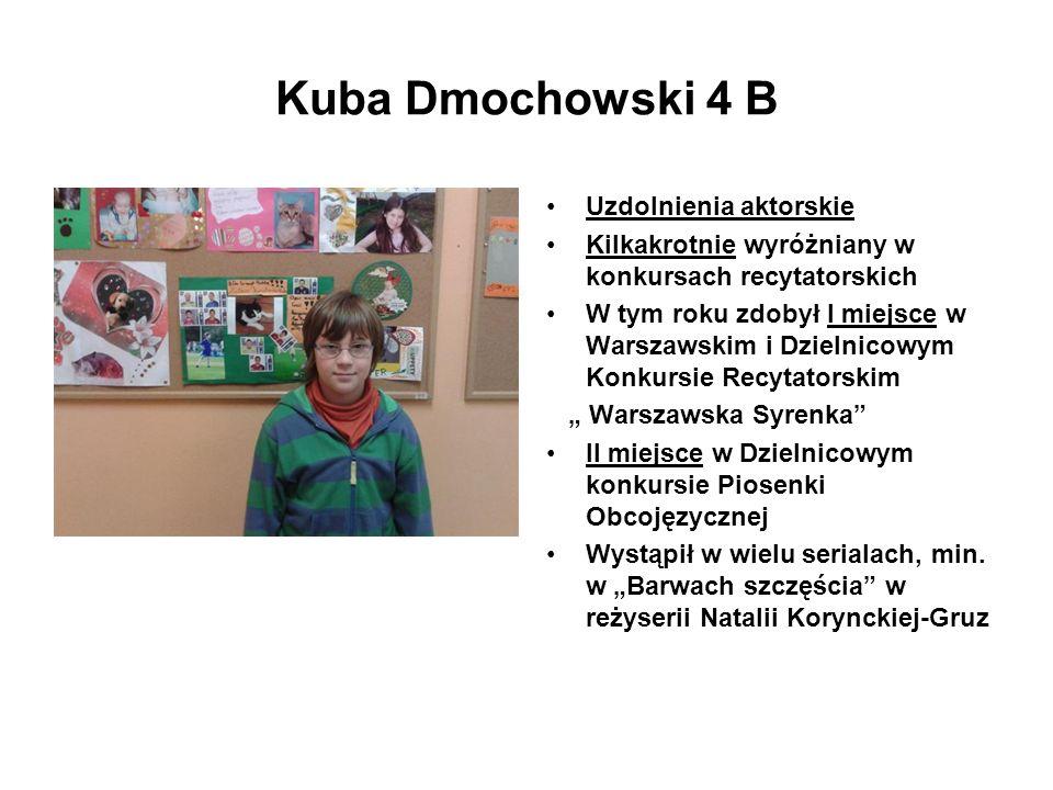 Kuba Dmochowski 4 B Uzdolnienia aktorskie