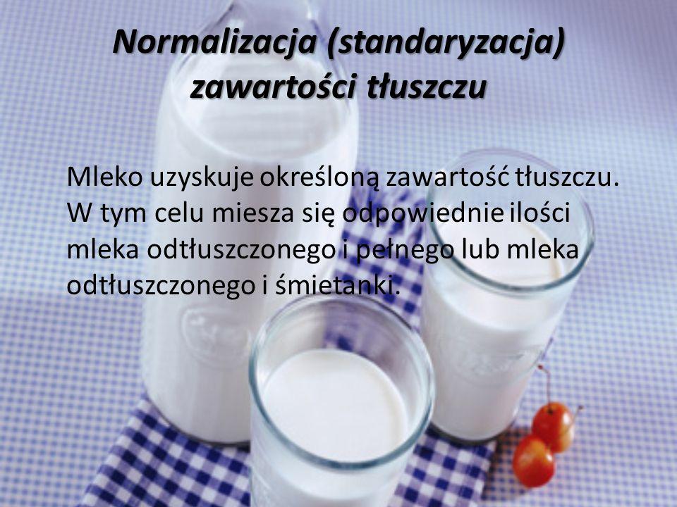 Normalizacja (standaryzacja) zawartości tłuszczu