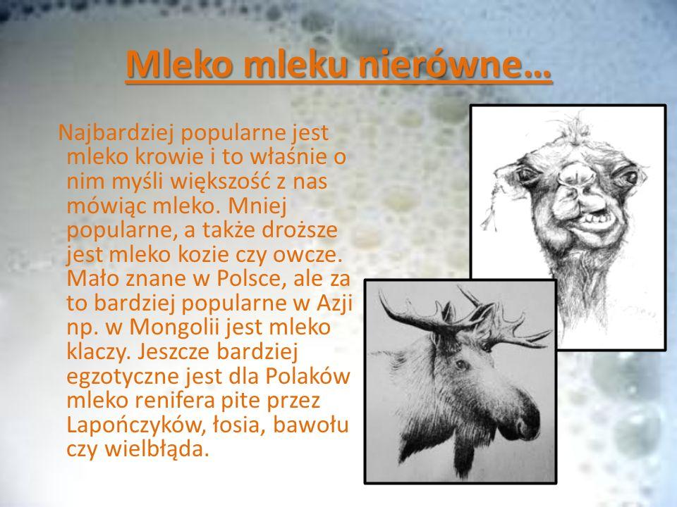 Mleko mleku nierówne…