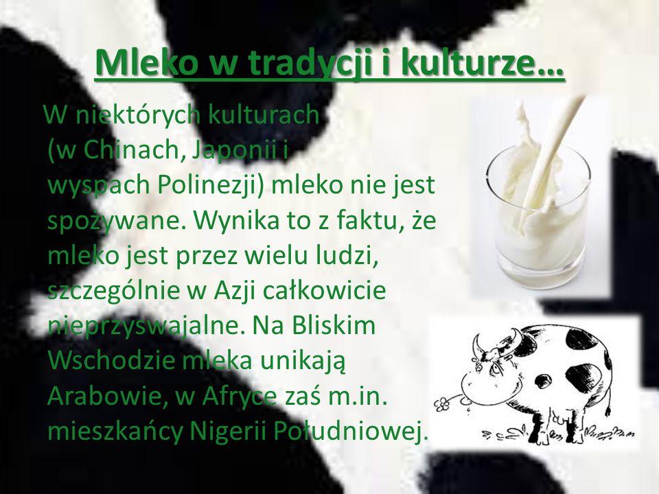 Mleko w tradycji i kulturze…