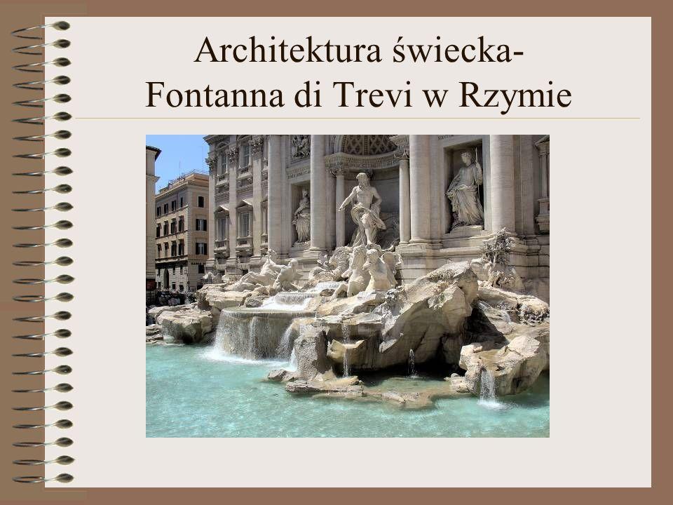 Architektura świecka- Fontanna di Trevi w Rzymie