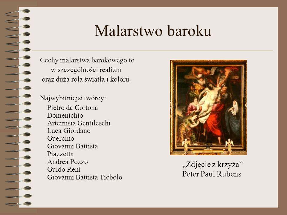 """Malarstwo baroku """"Zdjęcie z krzyża Peter Paul Rubens"""