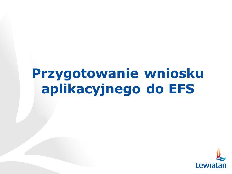 Przygotowanie wniosku aplikacyjnego do EFS