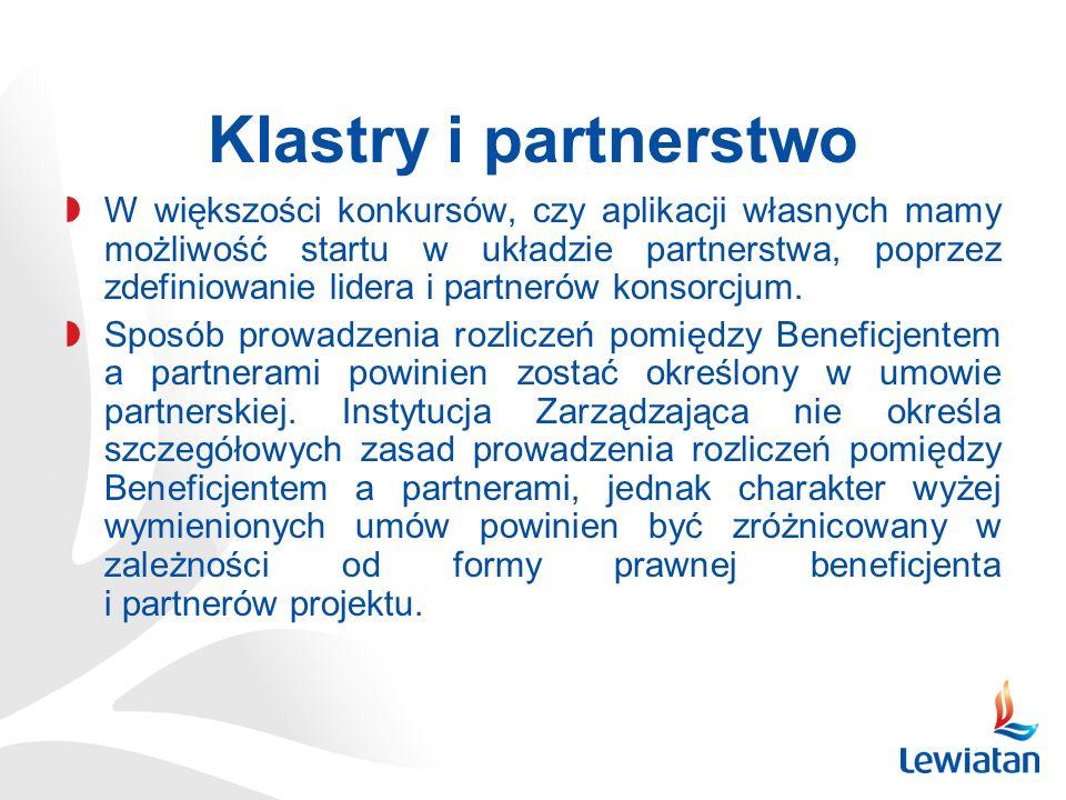 Klastry i partnerstwo