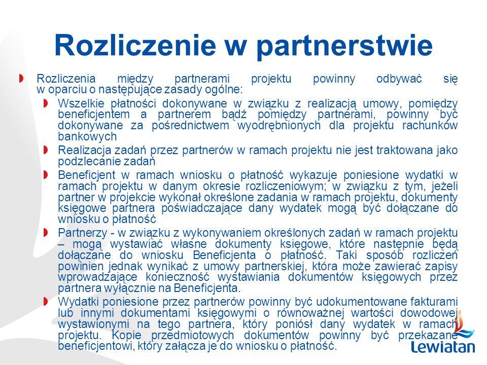 Rozliczenie w partnerstwie