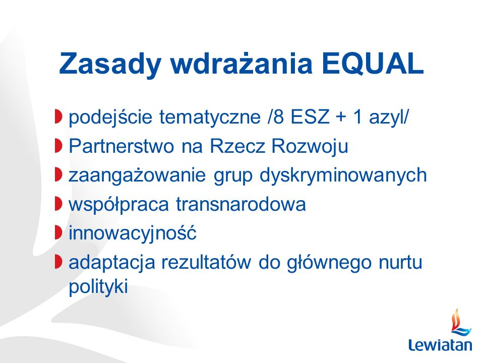Zasady wdrażania EQUAL