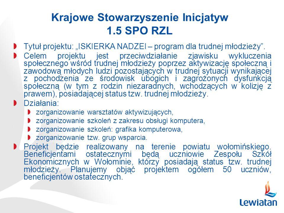 Krajowe Stowarzyszenie Inicjatyw 1.5 SPO RZL