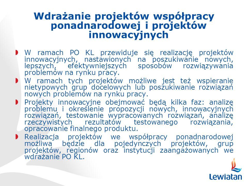 Wdrażanie projektów współpracy ponadnarodowej i projektów innowacyjnych