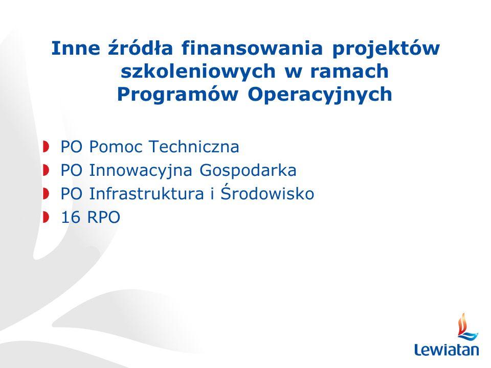 Inne źródła finansowania projektów szkoleniowych w ramach Programów Operacyjnych