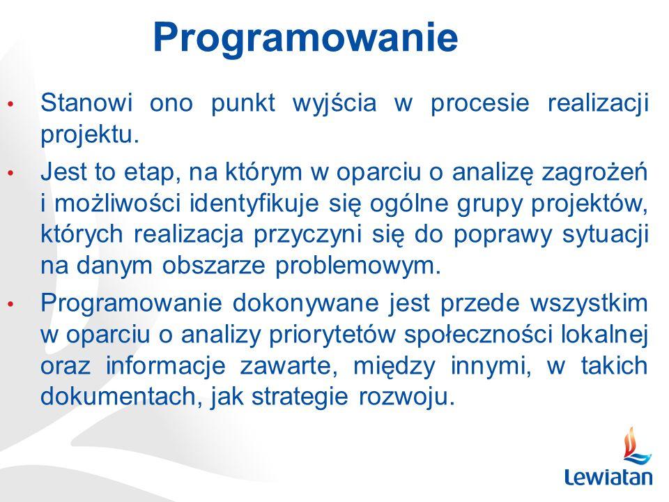 Programowanie Stanowi ono punkt wyjścia w procesie realizacji projektu.