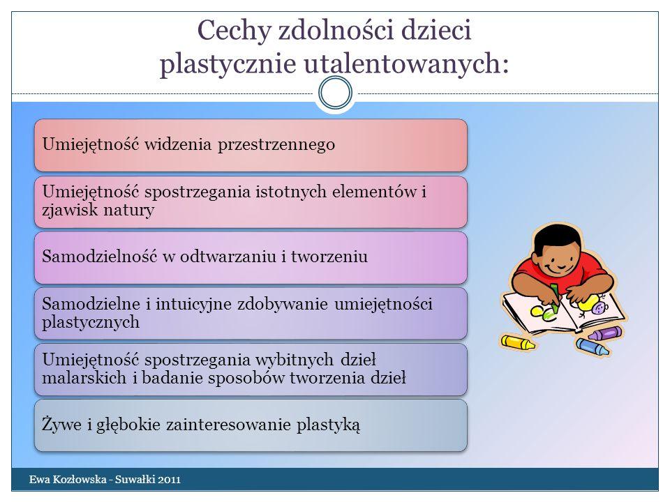 Cechy zdolności dzieci plastycznie utalentowanych: