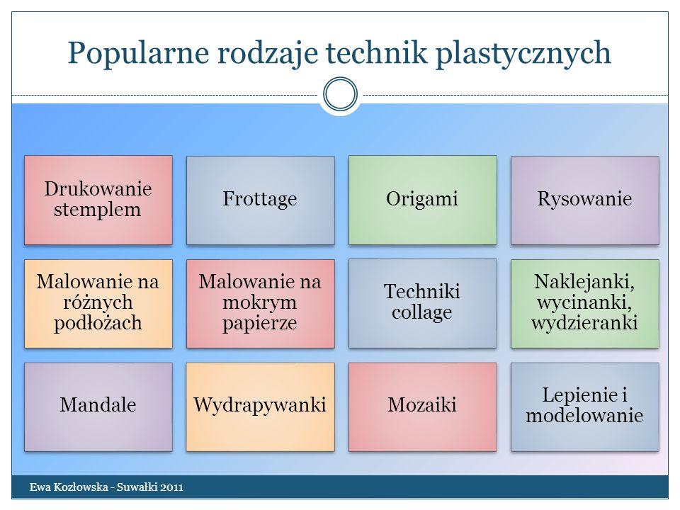 Popularne rodzaje technik plastycznych