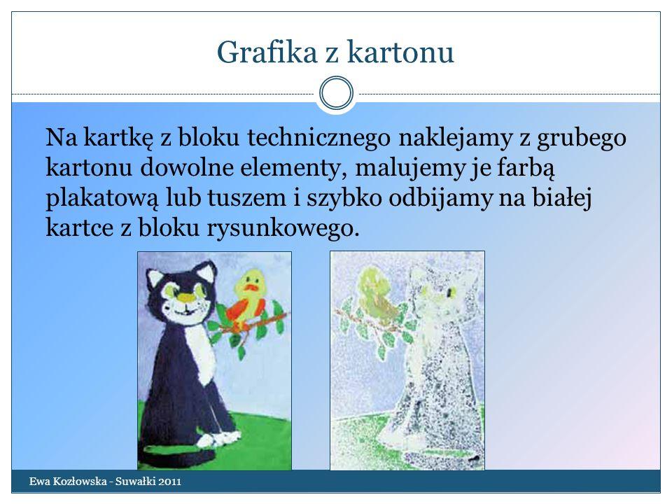 Grafika z kartonu