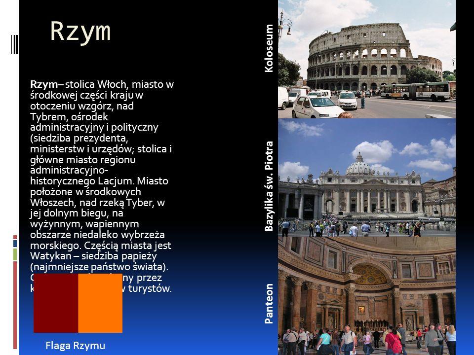 Rzym Koloseum Bazylika św. Piotra Panteon Flaga Rzymu