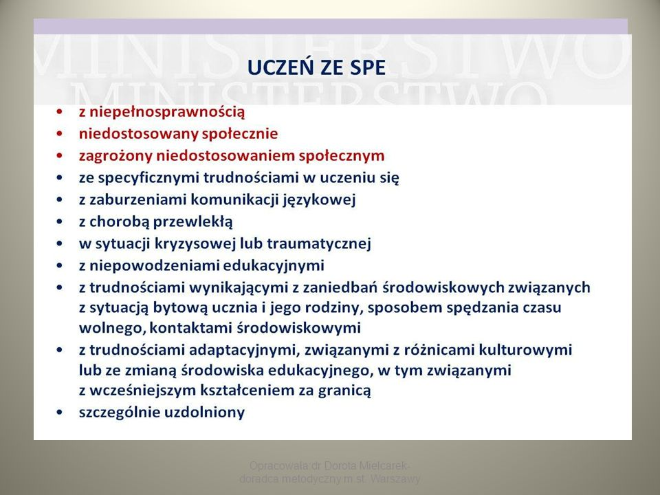 Opracowała:dr Dorota Mielcarek-doradca metodyczny m.st. Warszawy