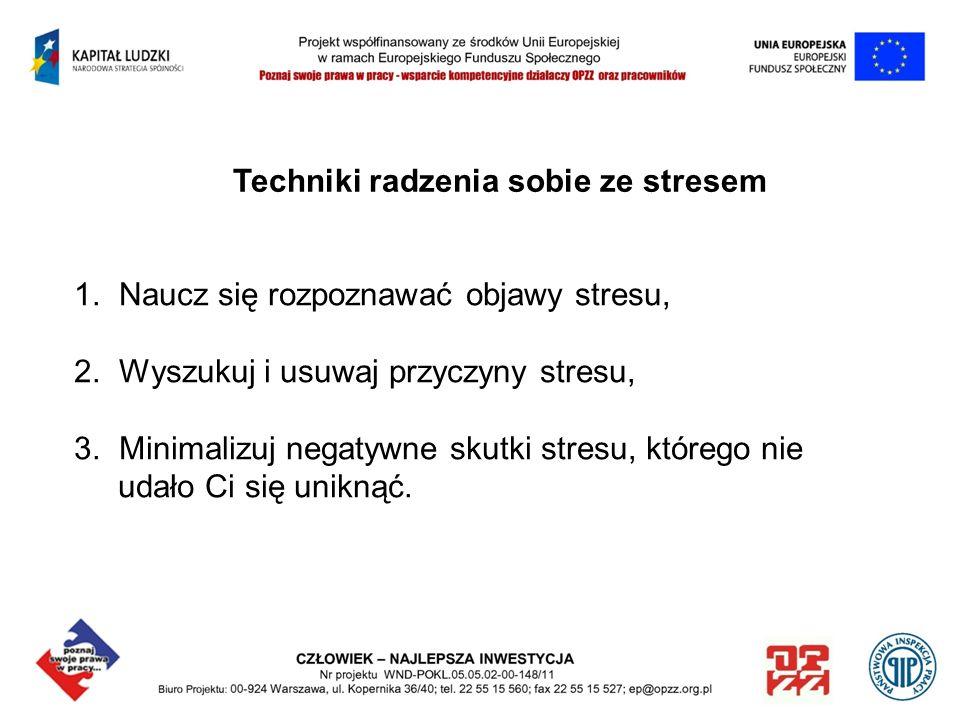 Techniki radzenia sobie ze stresem