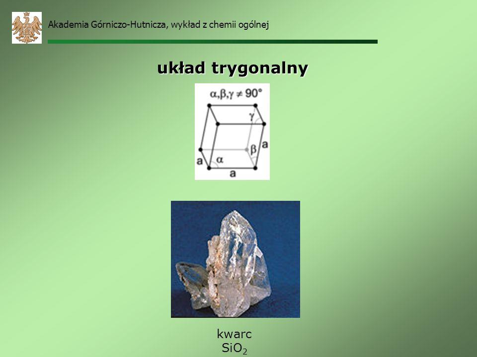układ trygonalny kwarc SiO2