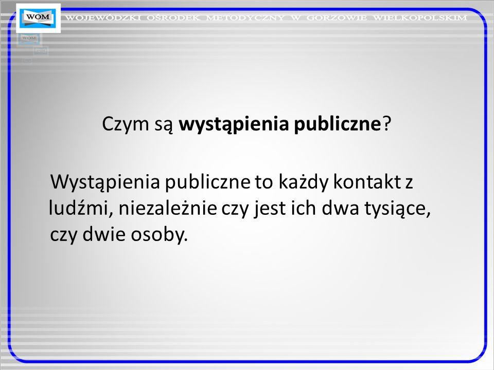 Czym są wystąpienia publiczne